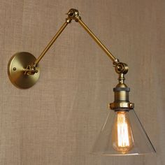 industrial style antique rust iron glass wall lamp/swing arm wall lighting for workroom/Bathroom Vanity 2 applies arm Tornado