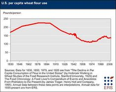 ...rates of obesity, diabetes, and cardiovascular disease in the U.S. went up during a time when consumption of wheat and corn was well below that of the late 19th century.