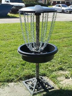 Picture of Disc Golf Goal all parts from Lowes Inexpensive