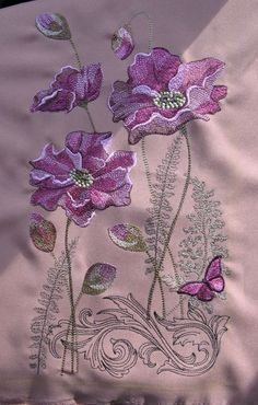 Border Embroidery Designs, Floral Embroidery Patterns, Hand Work Embroidery, Embroidery Fabric, Beaded Embroidery, Machine Embroidery Designs, Embroidery Stitches, Embroidery Suits, Brazilian Embroidery