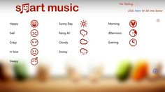 Smart Music for Windows 8 : Play music according to mood and weather