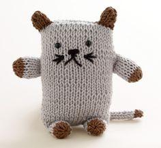 Martha Stewart Knitting Loom Patterns | Free Loom Pattern L10222B Loom Knit Cat : Lion Brand Yarn Company
