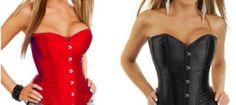 Corsés rojo y negro mate . #Moda #Madrid #Mujer 18€