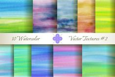 10 Watercolor Vector Textures #2 #watercolor #texture