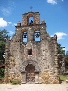 This is mission San Francisco de la Espada in SA. It's chapel has been restored and is still in use.  Spaniards introduced numerous European crops, irrigation at San Antonio and other mission sites, livestock, and livestock-handling techniques. Farming, initially practiced by some Indian groups in Texas, was likewise expanded and improved by Spanish missionaries and settlers. The restored missions at San Antonio and Goliad  are enduring monuments to the Franciscans.