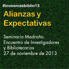 Seminario Madroño / Biblioteca UC3M | #invesmasbiblio13