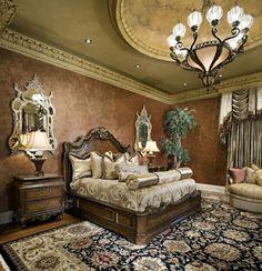 Traditional, Elegant Master Bedroom #PoshInteriors #InteriorDesign