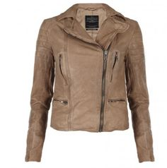 All Saints Brown Camel Leather Jacket - Expensive but worth it.