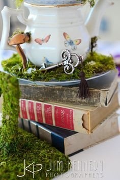 Once Upon A Time disney inspired wedding moss decor - Google Search