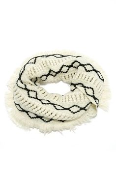 Diamonds are Forever Ivory Infinity Scarf