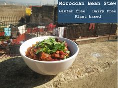 This Moroccan Bean Stew is such wholesome, filling and flavoursome meal. It is also gluten free, dairy free and plant based. Bean Stew, Free Plants, Gluten Free Recipes, Free Food, Moroccan, Plant Based, Dairy Free, Beans, Tableware