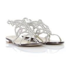 49286eee4abebb ornate sparkly flats Silver Flat Sandals