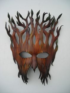 Looks like wooden flames.