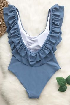 Cupshe Lovely Sweetheart Solid One-piece Swimsuit