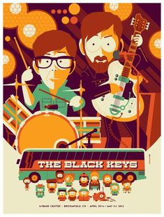 Les affiches Ultra créatives des concerts des Black keys | TrendHustler | TrendHustler