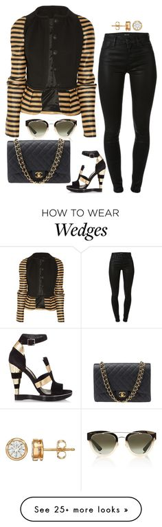 """""""Dope"""" by fashionkill21 on Polyvore featuring Burberry, Christian Dior, J Brand, Salvatore Ferragamo and Chanel"""