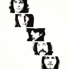 .:.:.:.:.:.Pink Floyd.:.:.:.:.:.  (top to bottom)  Rick Wright, Roger Waters, Syd Barrett, Nick Mason, David Gilmour