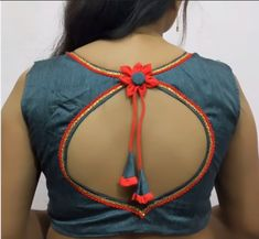 Beautiful Blouse Back Neck design - The handmade craft