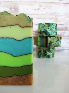 Blue Bamboo Handcrafted Soap with shea by PitterPatternDesigns