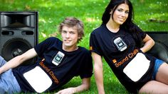 Cheesy jokes aside, the mobile phone provider Orange UK in conjunction with renewable energy experts at GotWind, has created the very first t-shirt that can charge small mobile devices via the use of sound. Sound, of course, creates Glastonbury Music Festival, Renewable Energy Companies, Clean Technology, Orange Shirt, Solar Power, Nice Tops, New Fashion, T Shirt, Mobile Accessories