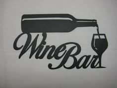 Metal Wine Signs | Metal Wine Bar Wall Sign by PawDellHobbyShop on Etsy