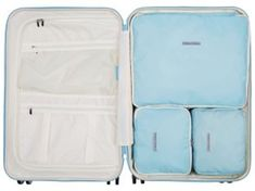 Doodle Stars Black And White 3 Set Packing Cubes,2 Various Sizes Travel Luggage Packing Organizers e
