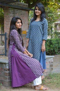 Two layer Kurtis Pakistani Dresses, Indian Dresses, Indian Outfits, Indian Attire, Indian Ethnic Wear, Indian Girls, India Fashion, Asian Fashion, Kurta Designs
