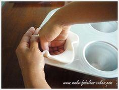 gumpaste teacups - alternate method