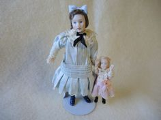 Vintage Doll House Dolls Miniatures by CandyTheArtist on Etsy, $175.00
