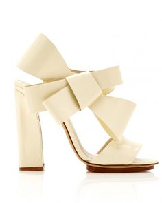 36 Best Shoes for a Bride to Wear to a Fall Wedding - Bride - Martha Stewart Weddings Delpozo Patent-Leather Bow-Detail Sandals, $1,100; modaoperandi.com.