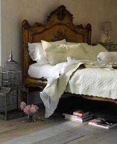 love the white bedding