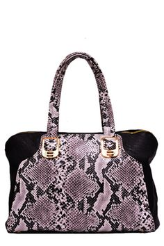 Upscale Vegan Snakeskin Handbag $59   www.seekersofstyle.com (a favourite repin of VIP Fashion Australia www.vipfashionaustralia.com - Specialising in unique fashion, exclusive fashion, online shopping sites for clothes, online shopping of clothes, international clothing store, international clothes shop, cute dresses for cheap, trendy clothing stores, luxury purses and blacklabel fashion )