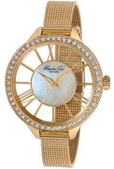 Kenneth Cole New York Crystal Bezel Transparent Dial Watch, 40mm