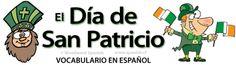 Vocabulario del Día de San Patricio - St. Patrick's Day vocabulary in Spanish