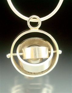 Small Satellite Pendant sterling pearl ready by daniellejewelry