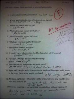 A+ for creativity. This kid is a genius.