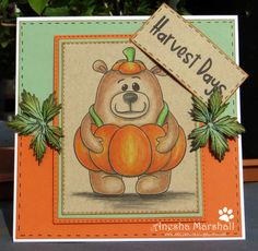 Beccy's Place Harvest Day, Digital Image, Winnie The Pooh, Disney Characters, Fictional Characters, Teddy Bear, Cards, Animals, Animales