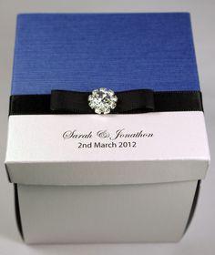 Regal Blue Exploding Box Wedding Invitation: Iliana Designs, Australian Wedding Store Online