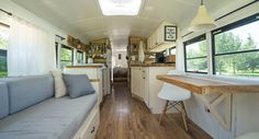 Bus turned home and RV - This bus-turned-loft will give you home and travel envy