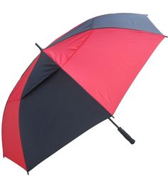 "60"" Auto Open Windbuster Fiberglass Golf Rain Umbrellas."
