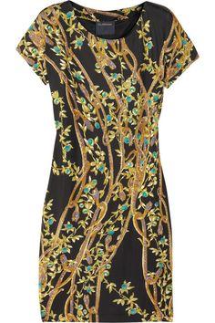 CLASS Roberto Cavalli Printed satin-jersey dress