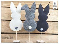Embroidery design - ITH bunny set of 6 embroidery file - a design .- Stickmuster – ITH Hase Set Stickdatei – ein Designerstück von Heimats… Embroidery designs – ITH rabbit set of 6 embroidery file – a unique product by Heimatstiche on DaWanda - Kids Crafts, Easter Crafts, Felt Crafts, Crafts To Sell, Fabric Crafts, Diy And Crafts, Craft Projects, Sewing Projects, Sell Diy