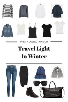 What to pack: travel light in winter minimalist wardrobe гар Travel Wardrobe, Capsule Wardrobe, Ideas Scrapbooking, Travel Outfit Spring, Winter Travel Packing, Travel Capsule, Travel Wear, Minimalist Wardrobe, Minimalist Packing