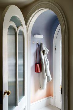 Rachel Bedard Fort Greene House Tour / ombre entryway