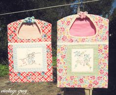 vintage grey: vintage inspired clothespin bags just listed in the shoppe