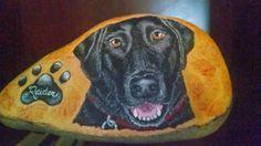 Hand Painted Rocks Dog Portrait Stone Paintings by CobbledArt