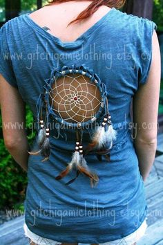 This is really unique and I love it!    CUSTOM Dreamcatcher Spirit Festival PeekaBoo by GitchiGamiClothing