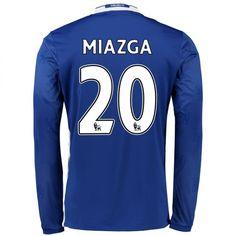 Chelsea 16-17 Cheap Home LS Soccer Shirts #20 MIAZGA [E255]