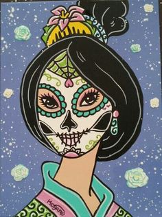 Sugar Skull Princess Mulan ©Kitty OGane (My Art)