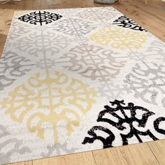 Andover Mills Wabon Gray Area Rug Rug Size: Rectangle x Area Rug Sets, Throw Rugs, Beige Area Rugs, Traditional Design, Bold Colors, Damask, Rug Size, Family Room, Kids Rugs